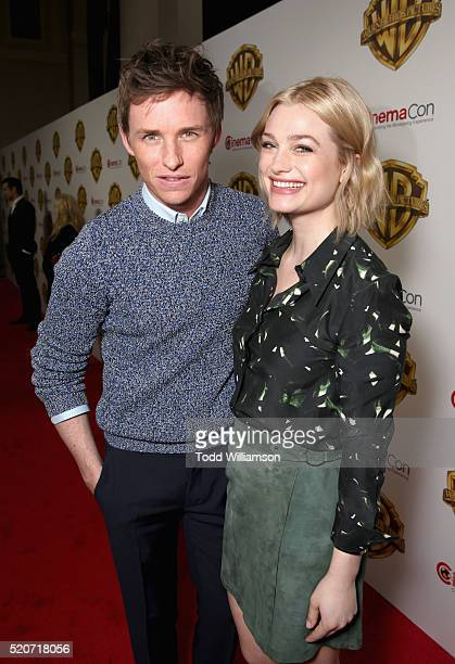"Actors Eddie Redmayne and Alison Sudol of 'Fantastic Beasts and Where to Find Them' attends CinemaCon 2016 Warner Bros Pictures Invites You to ""The..."