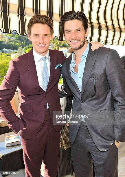 Actors Eddie Redmayne and Ben Barnes wearing Burberry at Eddie Redmayne Vanity Fair And Burberry Celebrate BAFTA Los Angeles and the Britannia Awards...