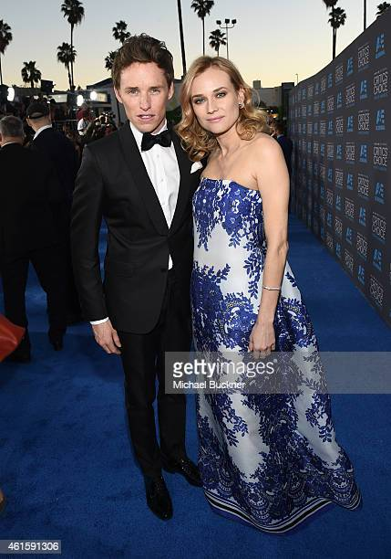 Actors Eddie Redmayne and Diane Kruger attend the 20th annual Critics' Choice Movie Awards at the Hollywood Palladium on January 15 2015 in Los...