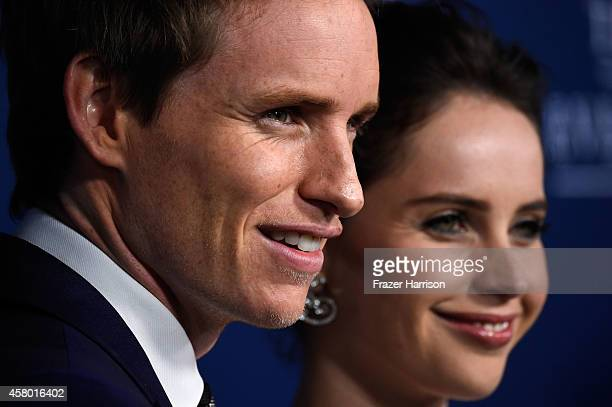 Actors Eddie Redmayne and Felicity Jones arrive to the Premiere of Focus Features' The Theory Of Everything at AMPAS Samuel Goldwyn Theater on...