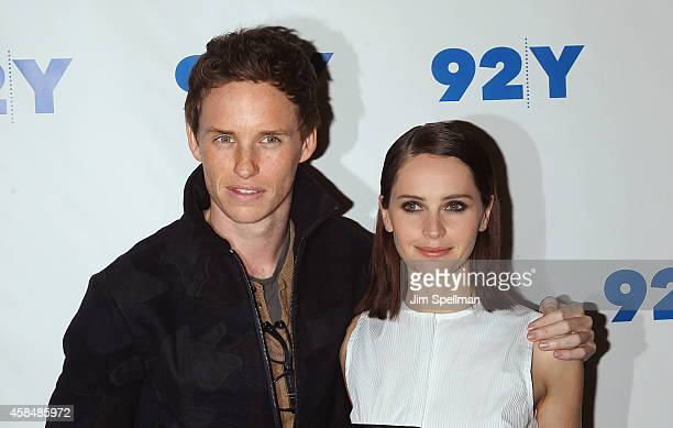 """Actors Eddie Redmayne and Felicity Jones attend 92nd Street Y Presents: """"The Theory Of Everything"""" at 92nd Street Y on November 5, 2014 in New York..."""