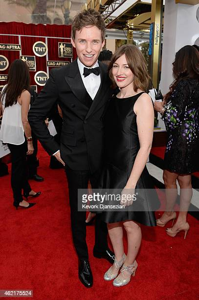 Actors Eddie Redmayne and Kelly Macdonald attend the 21st Annual Screen Actors Guild Awards at The Shrine Auditorium on January 25 2015 in Los...