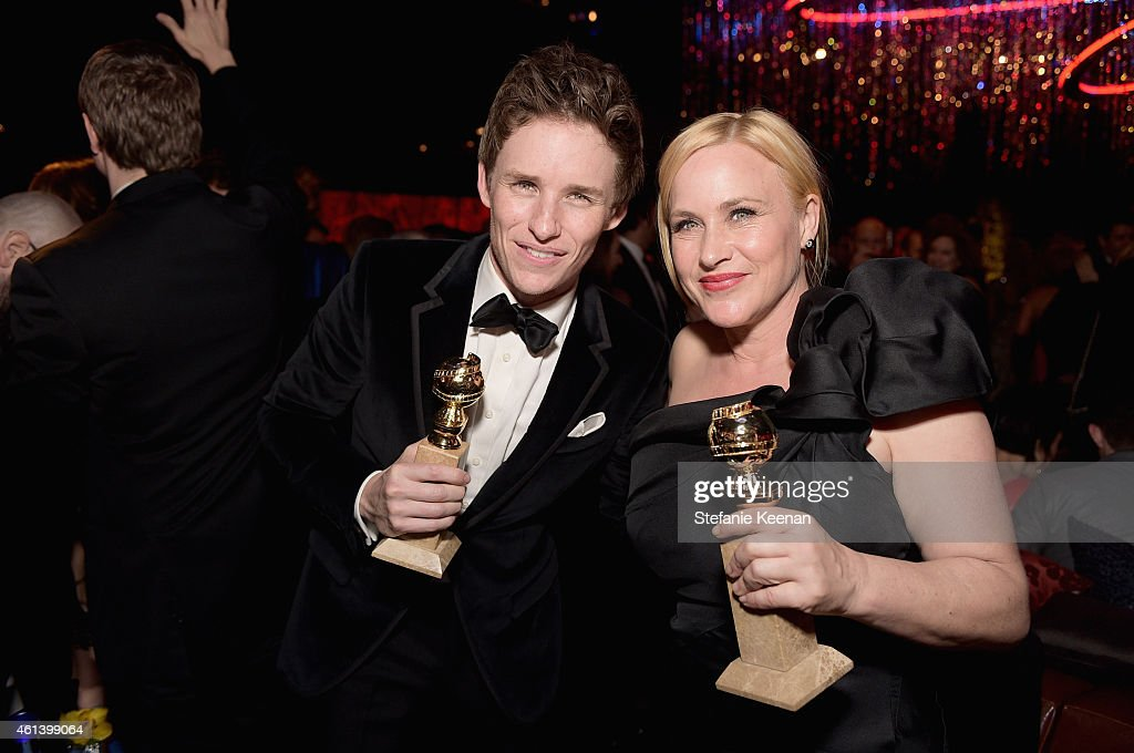 Actors Eddie Redmayne (L) and Patricia Arquette attend the 2015 InStyle And Warner Bros. 72nd Annual Golden Globe Awards Post-Party at The Beverly Hilton Hotel on January 11, 2015 in Beverly Hills, California.