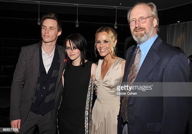 Actors Eddie Redmayne Kristen Stewart Maria Bello and William Hurt attend the The Yellow Handkerchief Los Angeles premiere at Pacific Design Center...