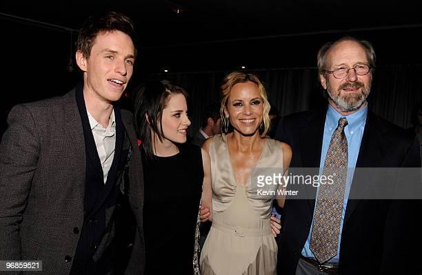 Actors Eddie Redmayne Kristen Stewart Maria Bello and William Hurt attend the premiere of Samuel Goldwyn Films' The Yellow Handkerchief at the...