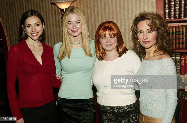 Actors Eden Riegel Jessica Morris Kathy Brier and Susan Lucci attend a party for ABC Daytime stars to celebrate actress Kathy Brier's new lead role...