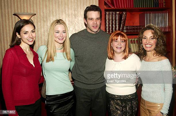 Actors Eden Riegel Jessica Morris Nathaniel Marston Kathy Brier and Susan Lucci attend a party for ABC Daytime stars to celebrate actress Kathy...