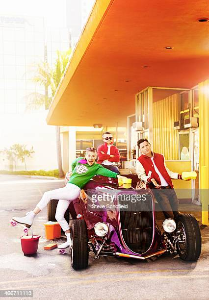 Actors Eden Sher Atticus Shaffer are and Charlie McDermott are photographed for Emmy magazine on March 24 2013 in Los Angeles California