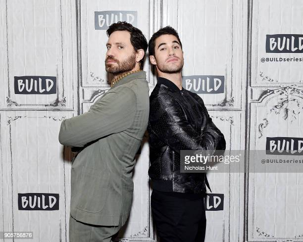 Actors Edgar Ramirez and Darren Criss attend the Build Series to discuss 'The Assassination of Gianni Versace: American Crime Story' at Build Studio...