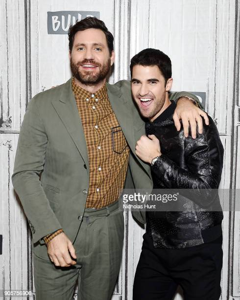 Actors Edgar Ramirez and Darren Criss attend the Build Series to discuss 'The Assassination of Gianni Versace American Crime Story' at Build Studio...