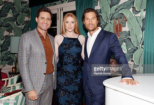 Actors Edgar Ramirez Bryce Dallas Howard and Matthew McConaughey attend as The Weinstein Company celebrates the cast and filmmakers of Sing Street...