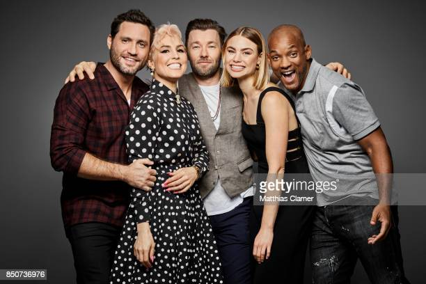 Actors Edgar Ramirez Noomi Rapace Joel Edgerton Lucy Fry and Will Smith from Bright are photographed for Entertainment Weekly Magazine on July 20...