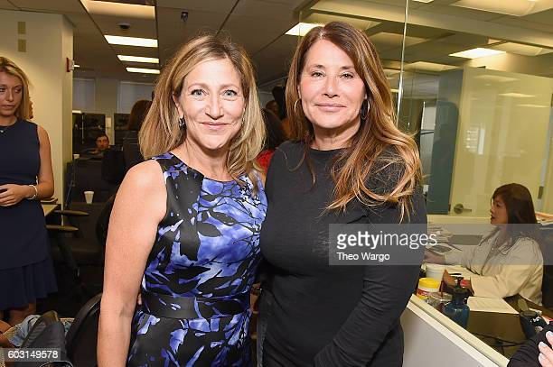 Actors Edie Falco and Lorraine Bracco attend Annual Charity Day hosted by Cantor Fitzgerald BGC and GFI at BGC Partners INC on September 12 2016 in...
