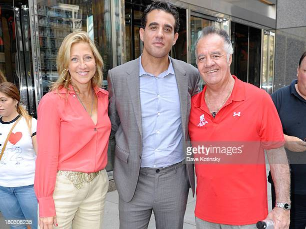 Actors Edie Falco Bobby Cannavale and Tony Sirico attend the annual charity day hosted by Cantor Fitzgerald and BGC at the BGC Office on September 11...