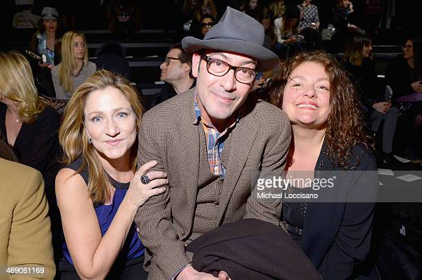 Actors Edie Falco John Ventimiglia and Aida Turturro attend the Nanette Lepore fashion show during MercedesBenz Fashion Week Fall 2014 at The Salon...