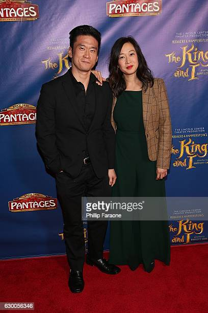 Actors Edison Chen and Camille Chen attend Opening Night of The Lincoln Center Theater's Production of Rodgers and Hammerstein's The King and I at...