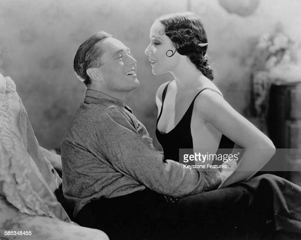 Actors Edmund Lowe and Dolores del Rio in a scene from the film 'What Price Glory' 1926