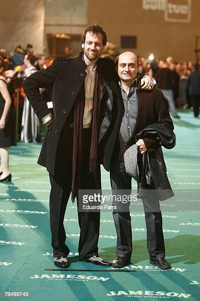 Actors Edu Soto and Pepe Viyuela attend the Goya 2008 Cinema Awards Ceremony at the Palacio de Congresos on Febraury 3 2008 in Madrid Spain