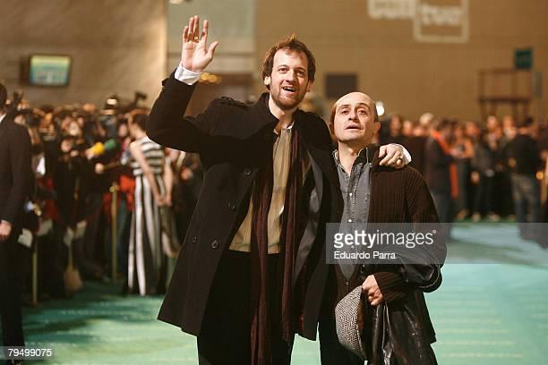 Actors Edu Soto and Pepe Viyuela attends the Goya 2008 Cinema Awards Ceremony at the Palacio de Congresos on Febraury 3 2008 in Madrid Spain