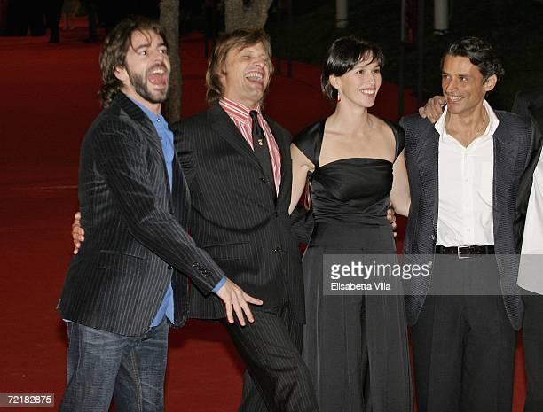Actors Eduardo Noriega Viggo Mortensen Ariadna Gil and Enrico Lo Verso attend the premiere of the movie Alatriste on the fourth day of Rome Film...