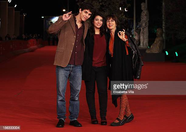 Actors Eduardo Valdarnini director Margherita Giusti and actress Stefania Casini attend the Cinemaxxi Short Movies Pletora 3D Premiere during the 7th...