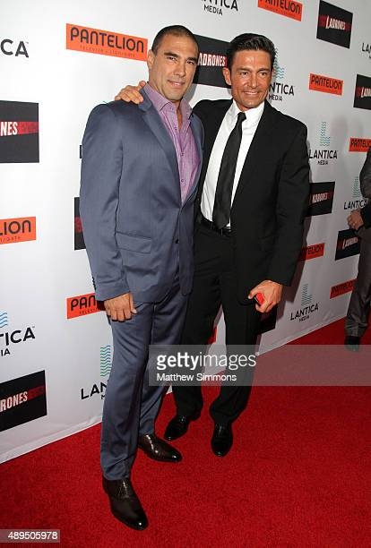 Actors Eduardo Yanez and Fernando Colunga attend the premiere of Pantelion Films Ladrones at ArcLight Cinemas on September 21 2015 in Hollywood...