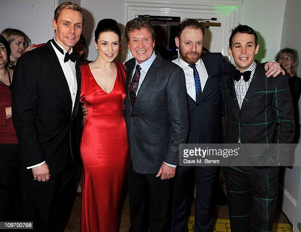 Actors Edward Baker-Duly, Danielle Hope, Michael Crawford, David Ganly and Paul Keating attend an after party following press night for Andrew Lloyd...