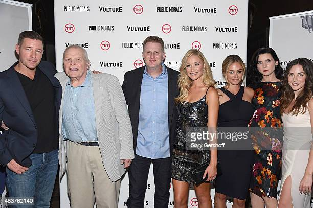 Actors Edward Burns Brian Dennehy Michael Rapaport Katrina Bowden Elizabeth Masucci Michelle Hicks and Lyndon Smith attend the Public Morals New York...