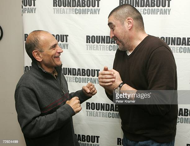 Actors Edward Hajj And Alfred Molina Pose For Photos At The Rehearsals Roundabout Theatre Company S