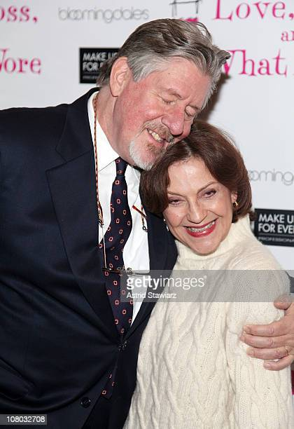 Actors Edward Herrmann and Kelly Bishop attend the Love Loss and What I Wore 500th performance celebration at B Smith's Restaurant on January 13 2011...