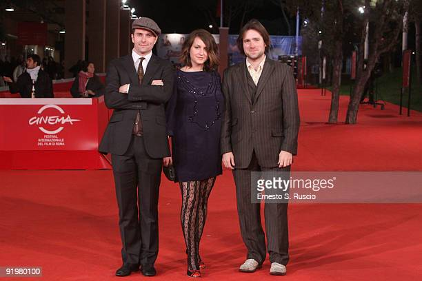 Actors Edward Hogg and Madeleine Worrall and director Paul King attend the 'Bunny and the Bull' Premiere during day 4 of the 4th Rome International...