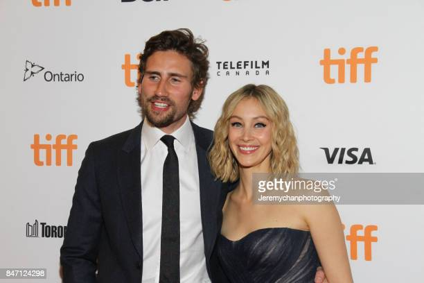 Actors Edward Holcroft and Sarah Gadon attend the 'Alias Grace' Premiere held at Winter Garden Theatre during the 2017 Toronto International Film...