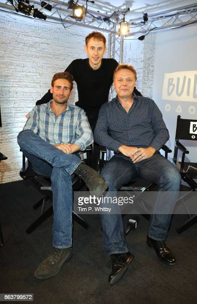 Actors Edward Holcroft, Robert Emms and Shaun Dooley from BBC Drama 'Gunpowder' pose for a photo during a panel discussion at BUILD London on October...