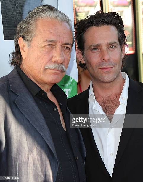 Actors Edward James Olmos and James Callis attend CATberet a musical review for the Kitty Bungalow Charm School for Wayward Cats at the Belasco...