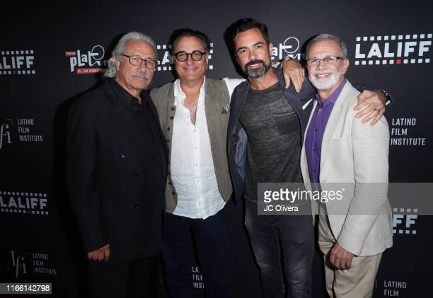 Actors Edward James Olmos Andy Garcia Danny Pino and Tony Plana attend the 2019 Los Angeles Latino International Film Festival Closing Night Premiere...