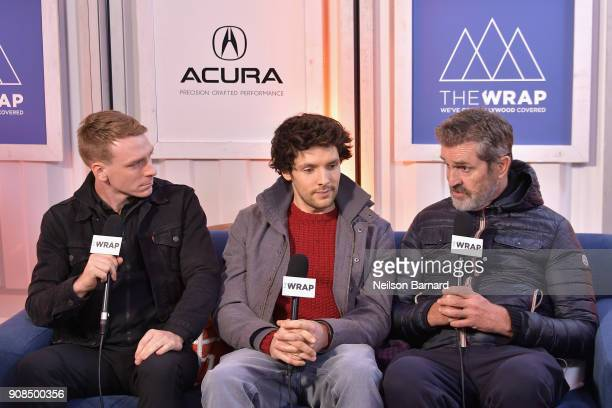 Actors Edwin Thomas Colin Morgan and director Rupert Everett of 'The Happy Prince' attend the Acura Studio at Sundance Film Festival 2018 on January...