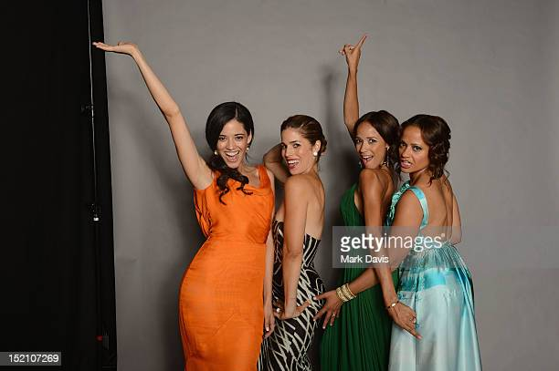 Actors Edy Ganem Ana Ortiz Dania Ramirez and Judy Reyes pose for a portrait during the 2012 NCLR ALMA Awards at Pasadena Civic Auditorium on...