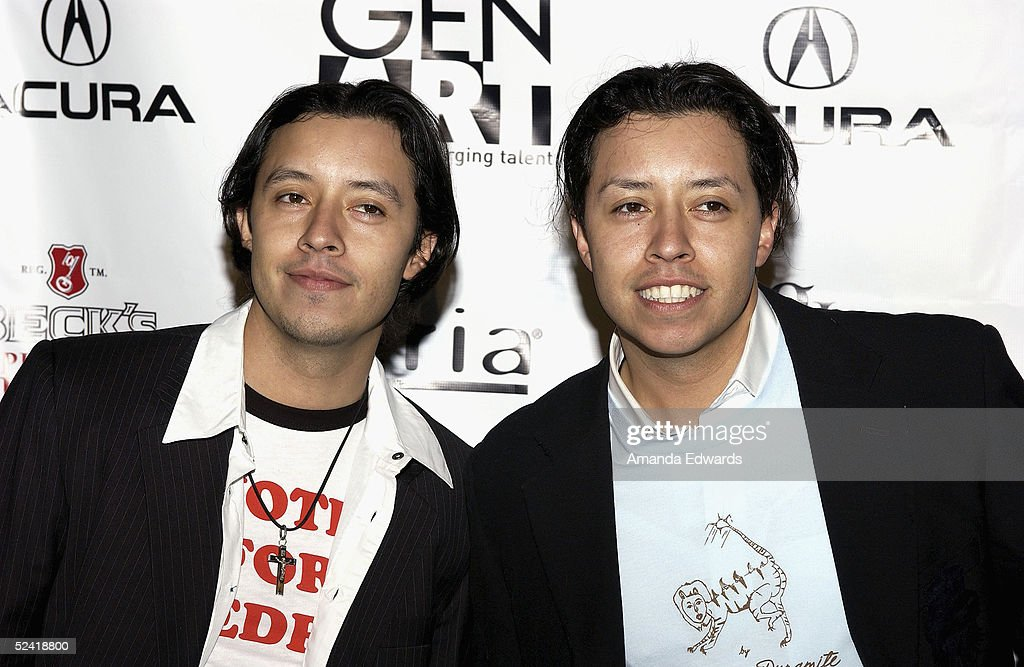 Actors Efren and Carlos Ramirez arrive at the Gen-Art Fall 2005 LA Fashion Week Kick Off Party on March 14, 2005 at the MOCA Geffen Contemporary Museum in Los Angeles, California.