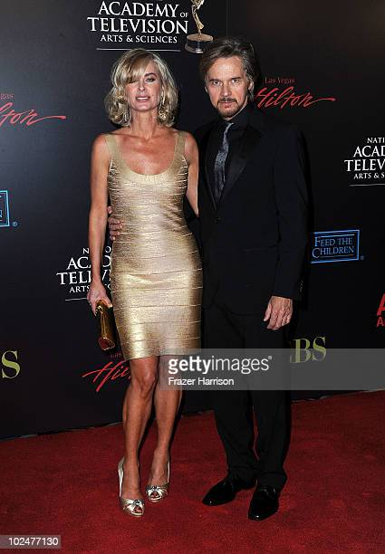 Actors Eileen Davidson and Vincent Van Patten arrives at the 37th Annual Daytime Entertainment Emmy Awards held at the Las Vegas Hilton on June 27...