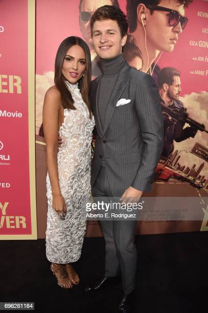 Actors Eiza Gonzalez and Ansel Elgort attend the premiere of Sony Pictures' Baby Driver at Ace Hotel on June 14 2017 in Los Angeles California