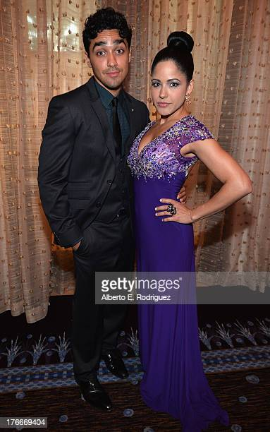 Actors EJ Bonilla and Veronica DiazCarranza attend the 28th Annual Imagen Awards at The Beverly Hilton Hotel on August 16 2013 in Beverly Hills...