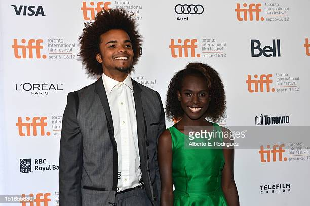 Actors Eka Darville and Xzannjah Matsi attend the Mr Pip premiere during the 2012 Toronto International Film Festival at Winter Garden Theatre on...