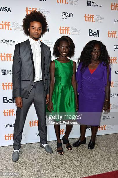 Actors Eka Darville Healesville Joel and Xzannjah Matsi attend the Mr Pip premiere during the 2012 Toronto International Film Festival at Winter...