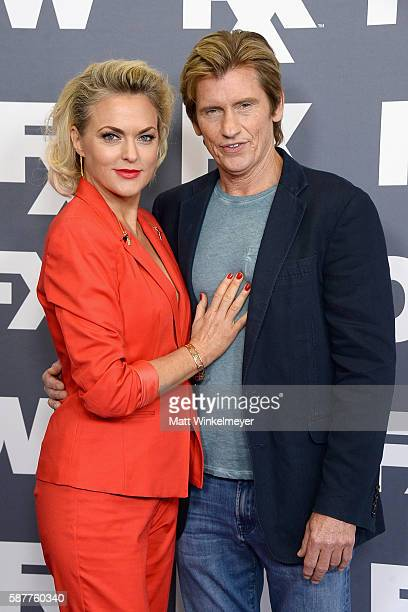 Actors Elaine Hendrix and Denis Leary attend the FX Networks TCA 2016 Summer Press Tour on August 9, 2016 in Beverly Hills, California.