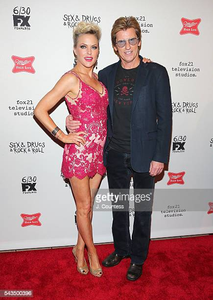 Actors Elaine Hendrix and Denis Leary attend the SexDrugsRockRoll Season 2 Premiere at AMC Loews 34th Street 14 theater on June 28 2016 in New York...