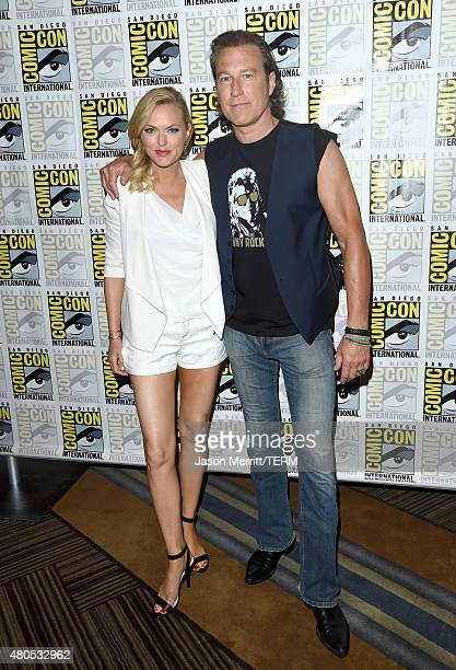 """Actors Elaine Hendrix and John Corbett attend FX's """"Sex&Drugs&Rock&Roll"""" Press Line during Comic-Con International 2015 at Hilton Bayfront on July..."""