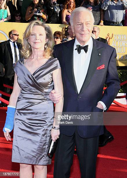 Actors Elaine Taylor and Christopher Plummer arrive at The 18th Annual Screen Actors Guild Awards broadcast on TNT/TBS at The Shrine Auditorium on...