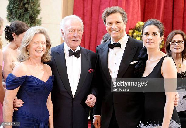 Actors Elaine Taylor Christopher Plummer Colin Firth and Livia Giuggioli arrive at the 82nd Annual Academy Awards held at the Kodak Theatre on March...