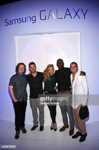 Actors Elden Henson Wes Chatham Natalie Dormer Mahershala Ali and Evan Ross attend Samsung and Lionsgate premiere of the first official teaser...