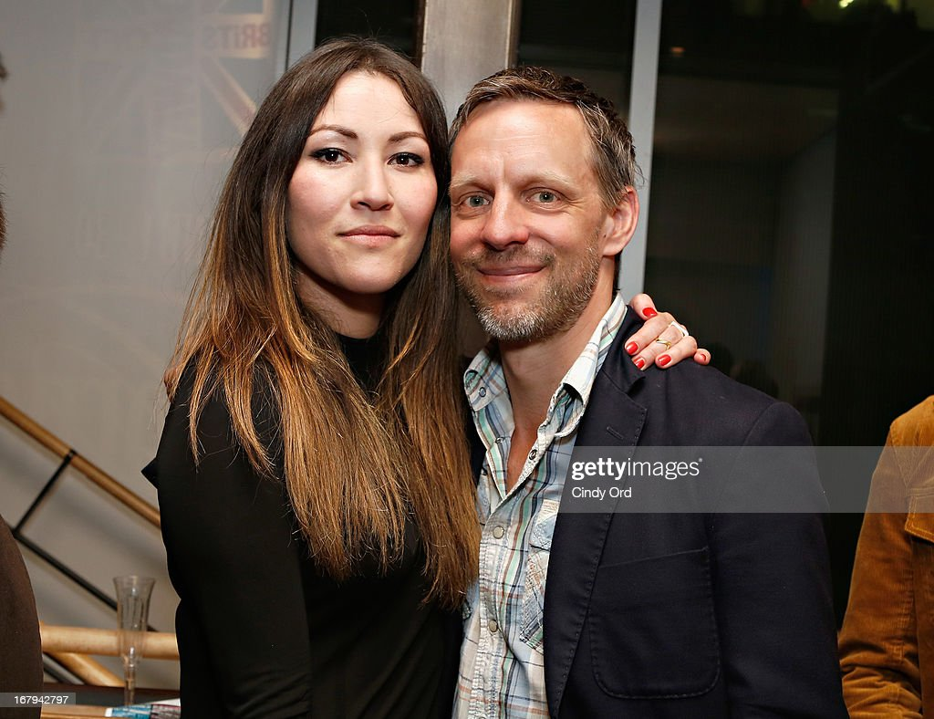 Actors Eleanor Matsuura and Trevor White attend the Opening Night Of The US Premiere Of 'BULL At Brits' Off Broadway After Party at 59E59 Theaters on May 2, 2013 in New York City.